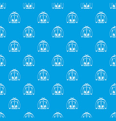 men winter jacket pattern seamless blue vector image