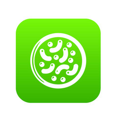 microscopic bacteria icon green vector image