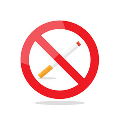 no smoking area prohibition sign vector image