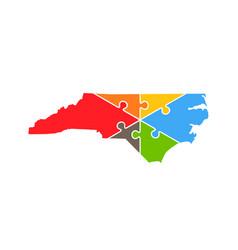 North carolina puzzle rebuild logo vector