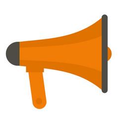 orange loudspeaker icon isolated vector image