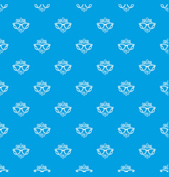 original style pattern seamless blue vector image