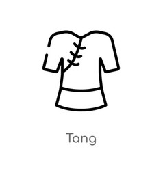 outline tang icon isolated black simple line vector image