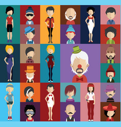 people avatar with full body and torso variations vector image