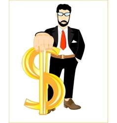 Persons with sign dollar vector image