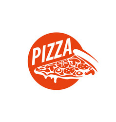 pizza logo vector image