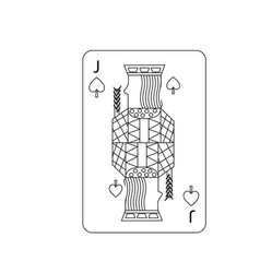 poker playing card jack spades vector image