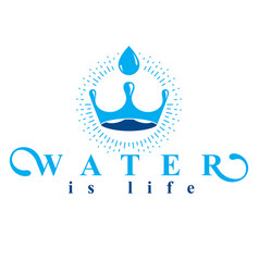 Pure water abstract logo created in the shape of vector