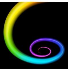 Rainbow 3d swirl Realistic vector image