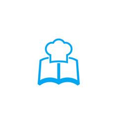 Recipe book icon vector