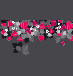 red garden berries in header design element vector image