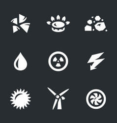 Set of energy source icons vector