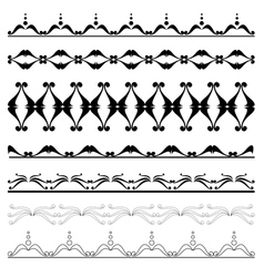 set of geometric decorative elements for design vector image vector image