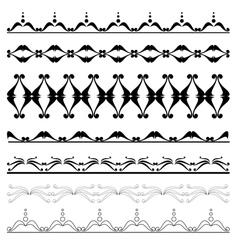 set of geometric decorative elements for design vector image