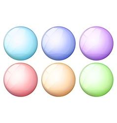Six round icons vector