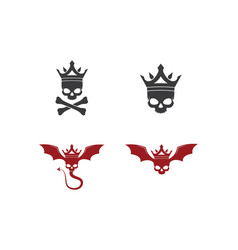 Skull devil design vector