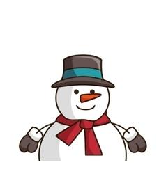 snowman smiling cartoon vector image