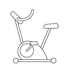 Spinning machine gym equipment in black and white vector
