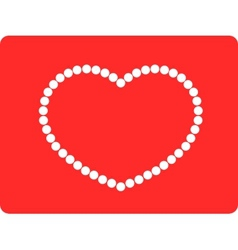 String of beads in heart shape vector