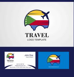 Travel democratic republic of the congo flag logo vector