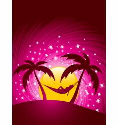 tropical chill vector image