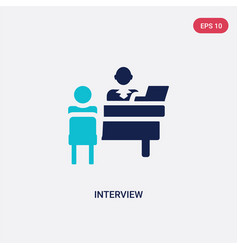 Two color interview icon from human resources vector