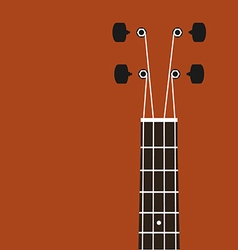 Ukulele background flat design vector