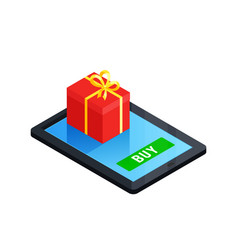 gift box online concept vector image