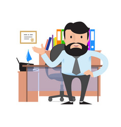 manager or businessman with a beard and mustache vector image