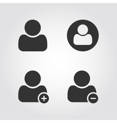 User man icons set flat design vector image vector image