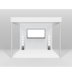 White Trade exhibition Stand for Presentation vector image vector image