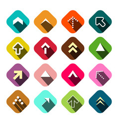arrows set flat arrow icons vector image