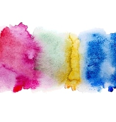 colorful watercolor stains vector image vector image