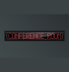 conference room led digital sign vector image vector image