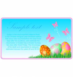 Easter eggs ecard vector image