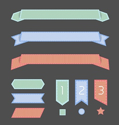 ribbon banner vector image