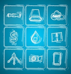 Sketch icons for ice bucket challenge vector
