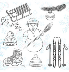 winter icons2 vector image