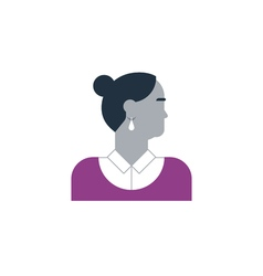 Woman side view turned head vector