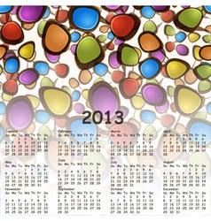 2013 abstract calendar with cartoon schemes of con vector image vector image