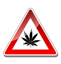A warning sign vector image vector image