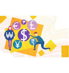 business people currency sign money exchange vector image vector image