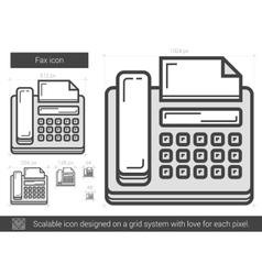 Fax line icon vector
