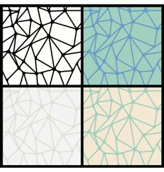 Geometric Abstract Seamless Polygonal Backgrounds vector image vector image