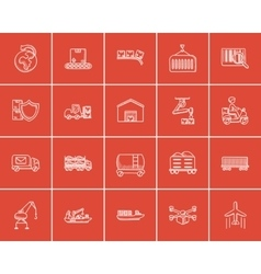 Industry sketch icon set vector image