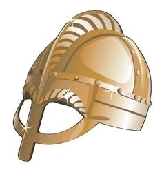 Ancient metal helmet from Sparta vector image