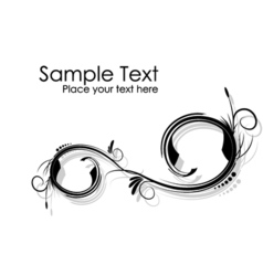 black and white abstract wavy branches background vector image