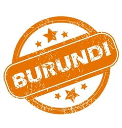 Burundi grunge icon vector image vector image