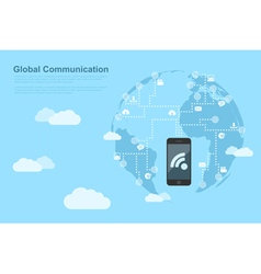global communications 2 vector image