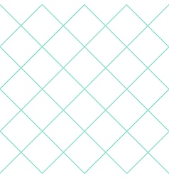 Mint Green Grid White Diamond Background vector image vector image